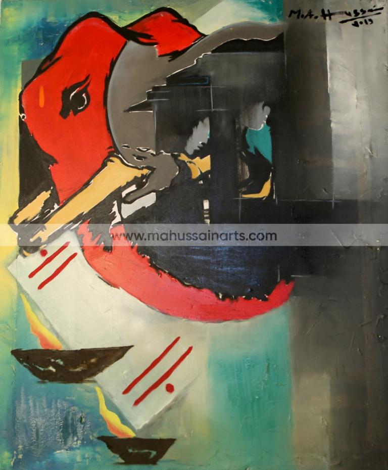 AB4A3845 Highest Priced Oil painting in India